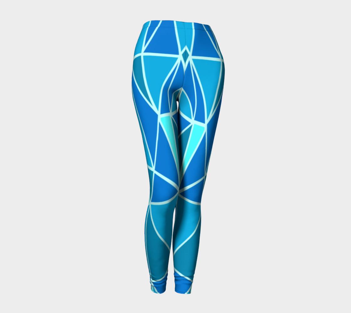 Aperçu de Blue Geometric Adult Leggings #1