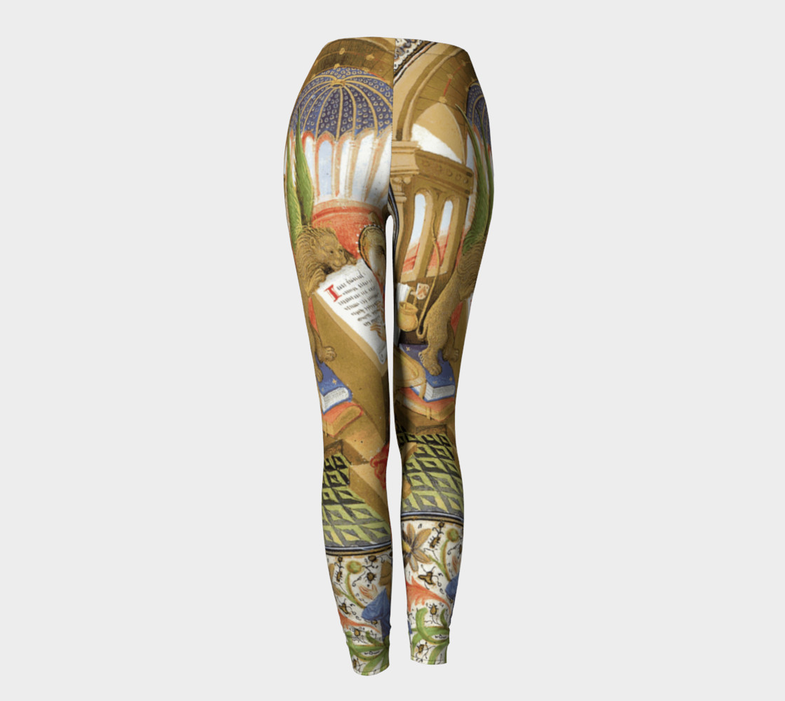 Medieval Lion Scribe - Leggings Miniature #5