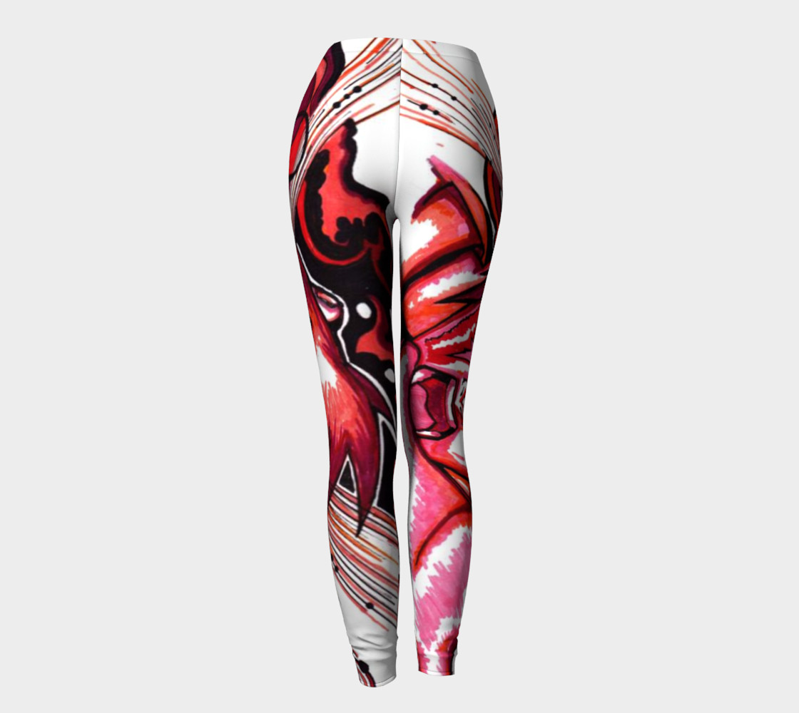 Red Anime Leggings preview #4