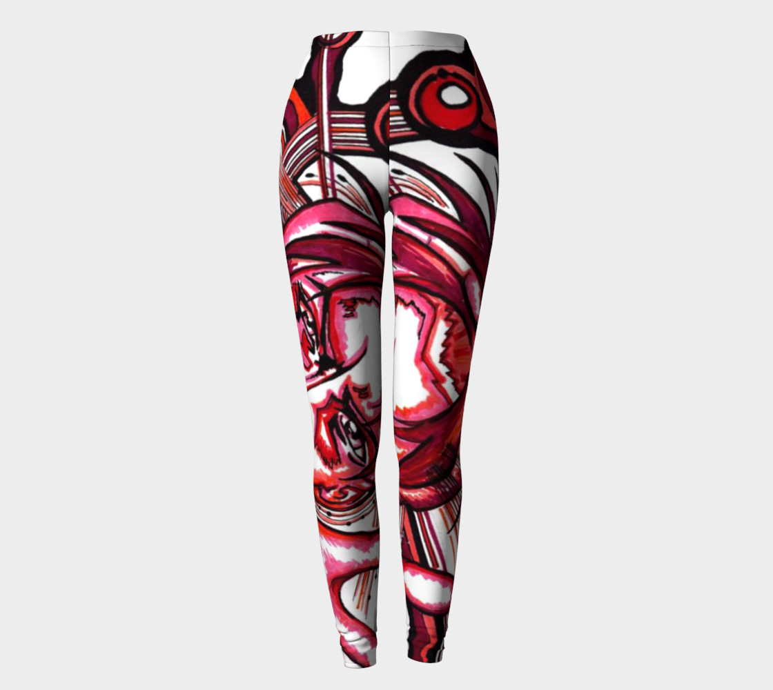 Red Anime Leggings preview #2