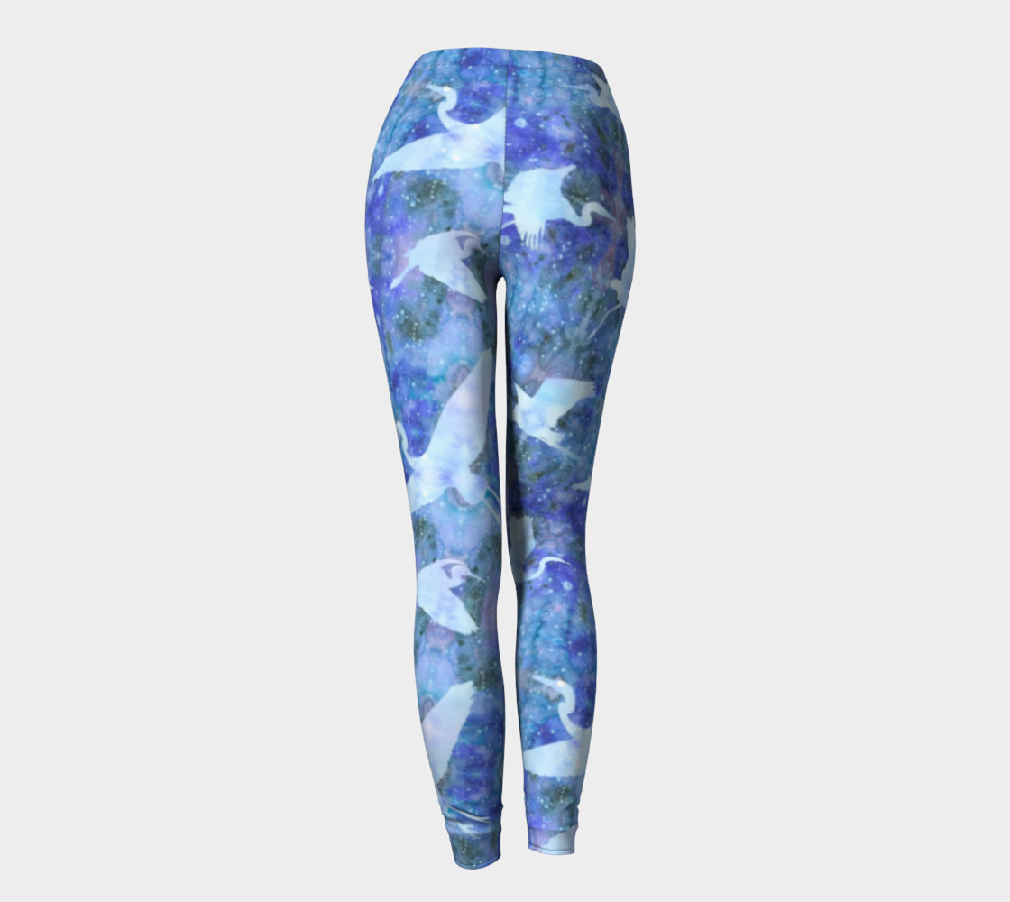 Aperçu de Starry Cranes - Leggings #4