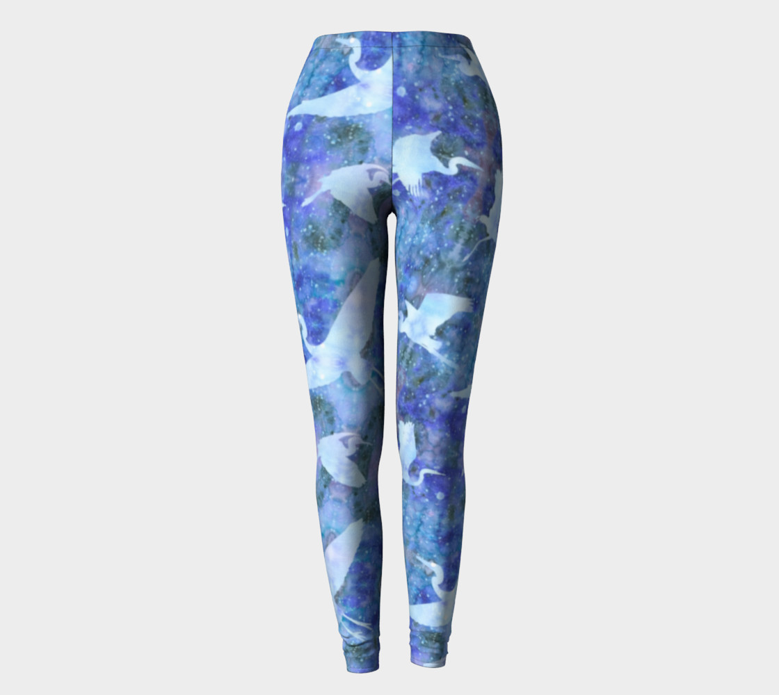 Aperçu de Starry Cranes - Leggings #2