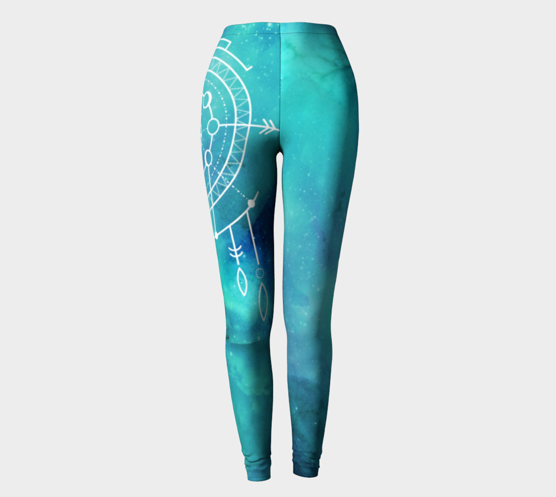 Aperçu de Boho Constellation Moon phase leggings #2