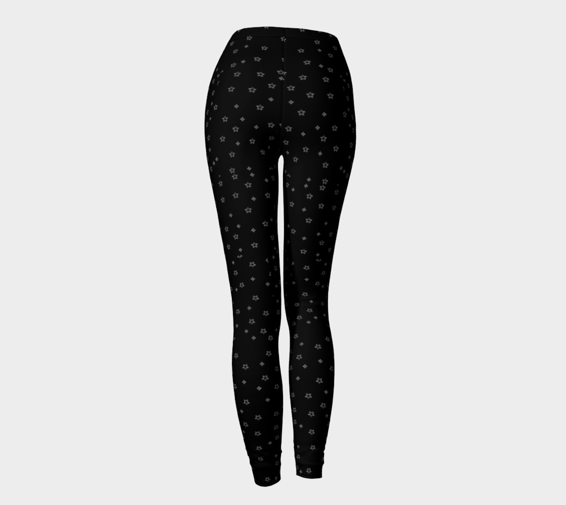 Black leggings with white stars preview #4