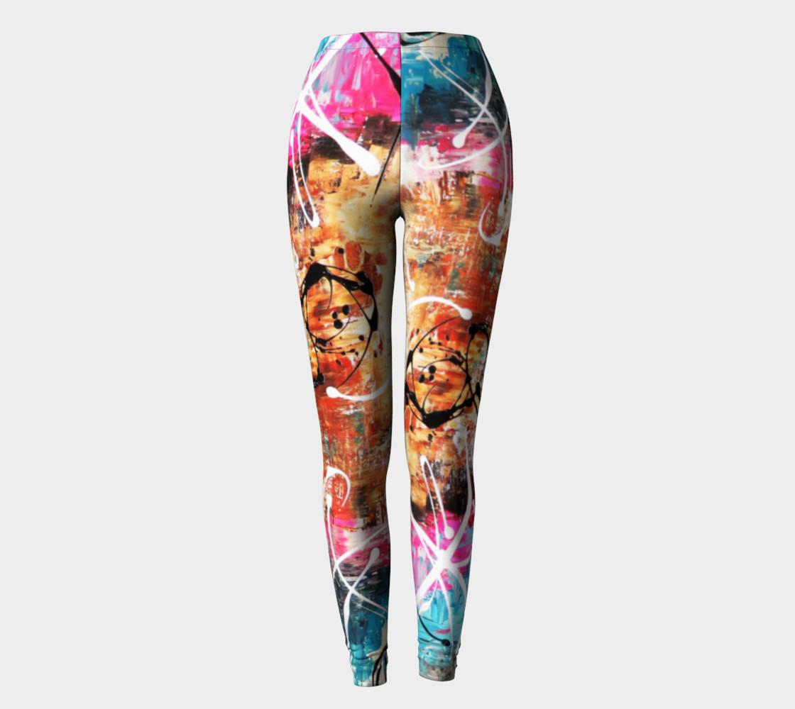 Matt LeBlanc Art Leggings - Design 002 - Multicolors preview #2