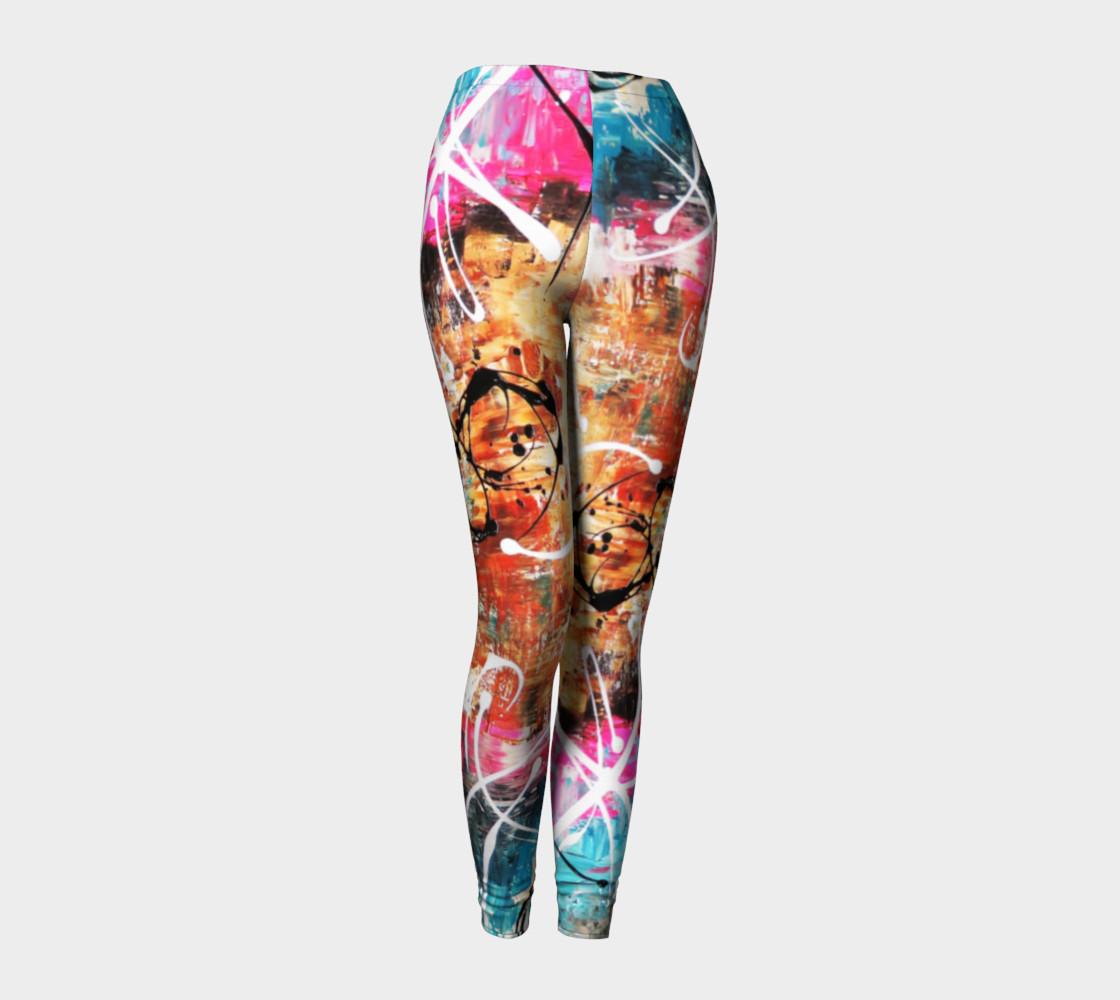 Matt LeBlanc Art Leggings - Design 002 - Multicolors preview #1