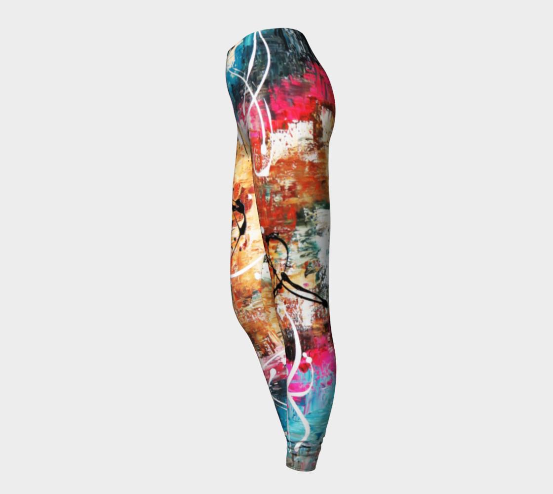 Matt LeBlanc Art Leggings - Design 002 - Multicolors preview #3