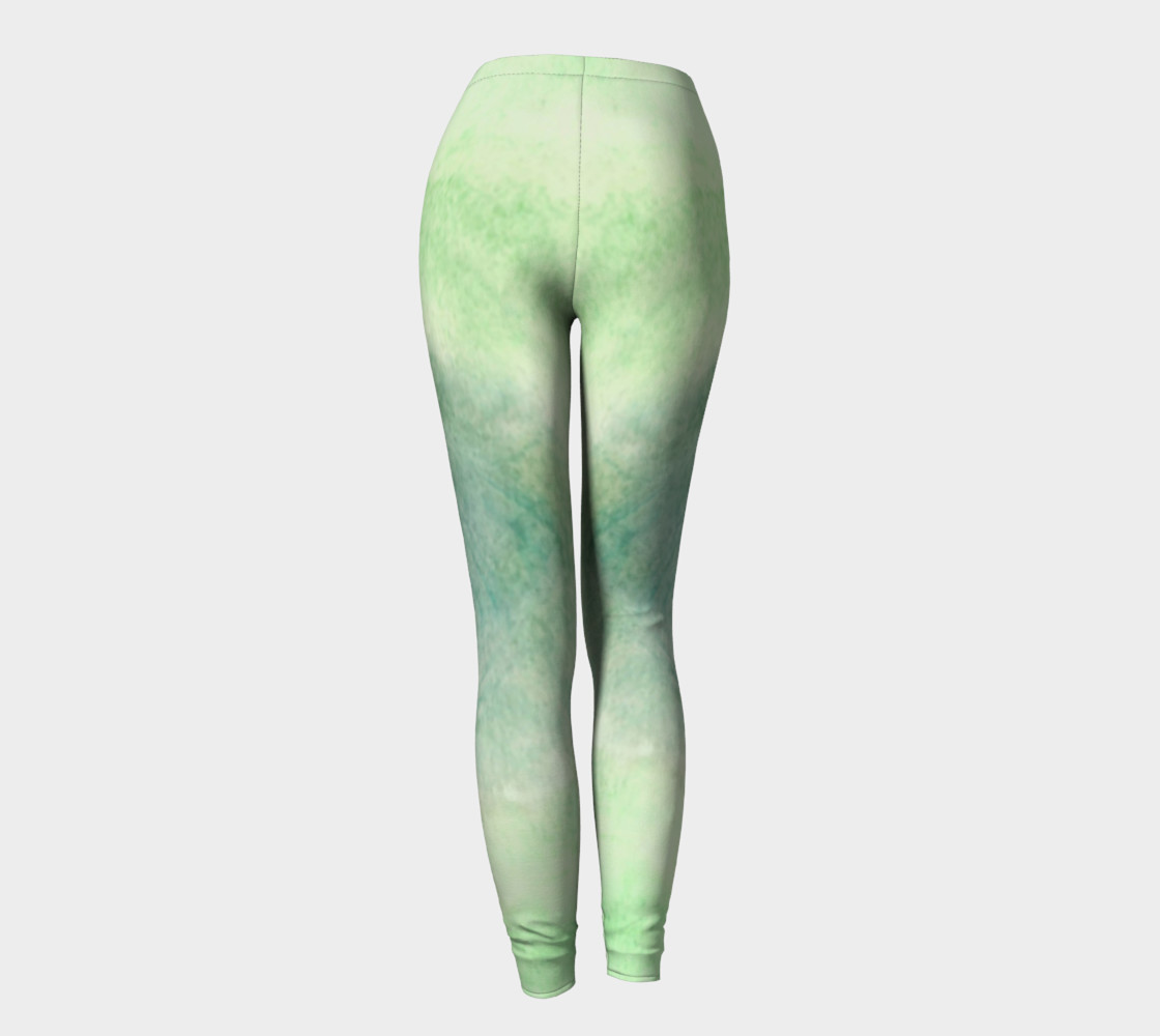 Green Dimension Flower Leggings preview #4