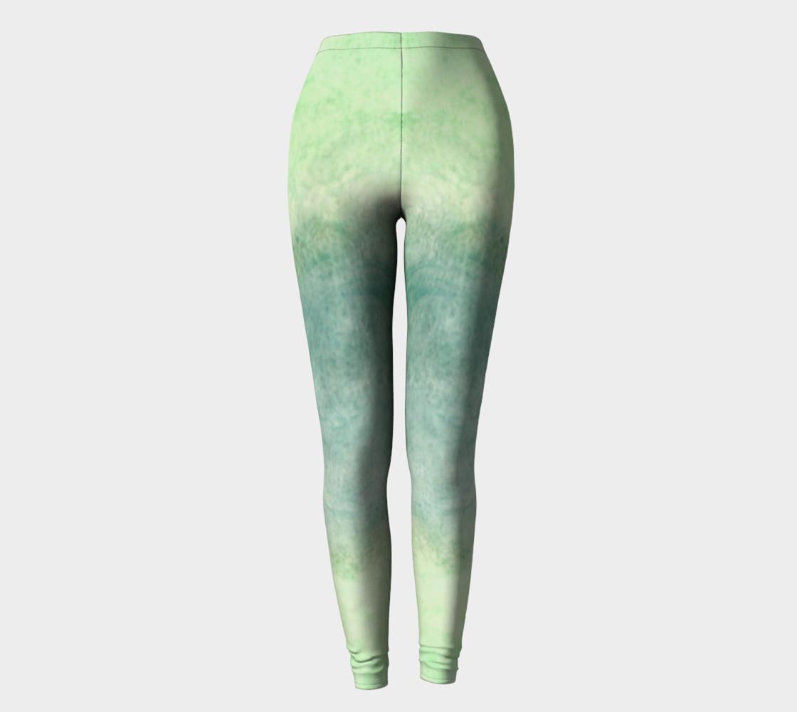 Green Dimension Flower Leggings preview #2