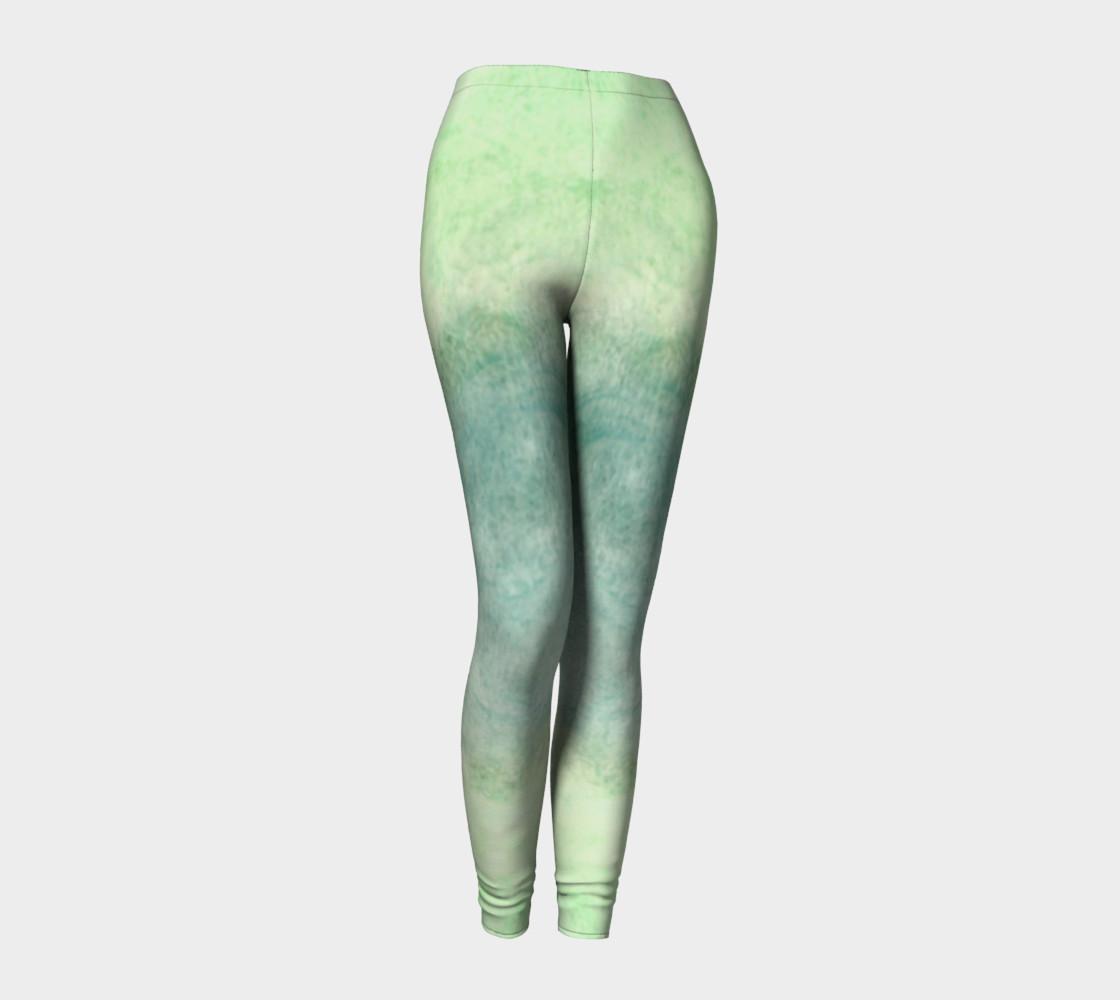 Green Dimension Flower Leggings preview #1