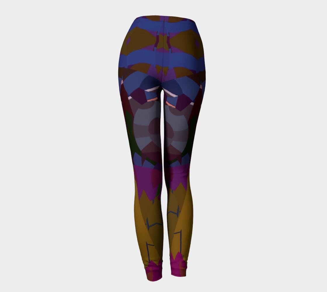 Confetti Geometric Pattern All Over Print leggings  preview #4