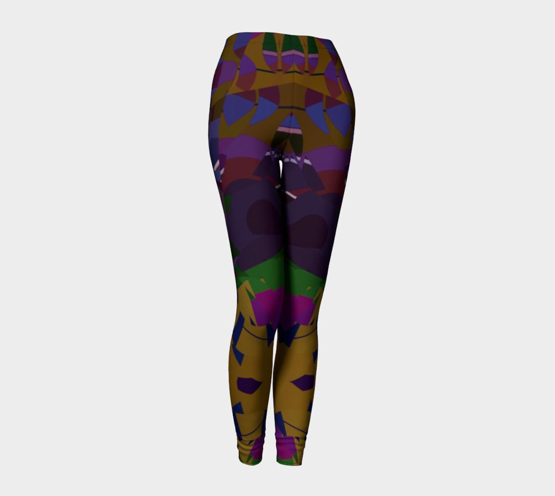 Confetti Geometric Pattern All Over Print leggings  preview #1