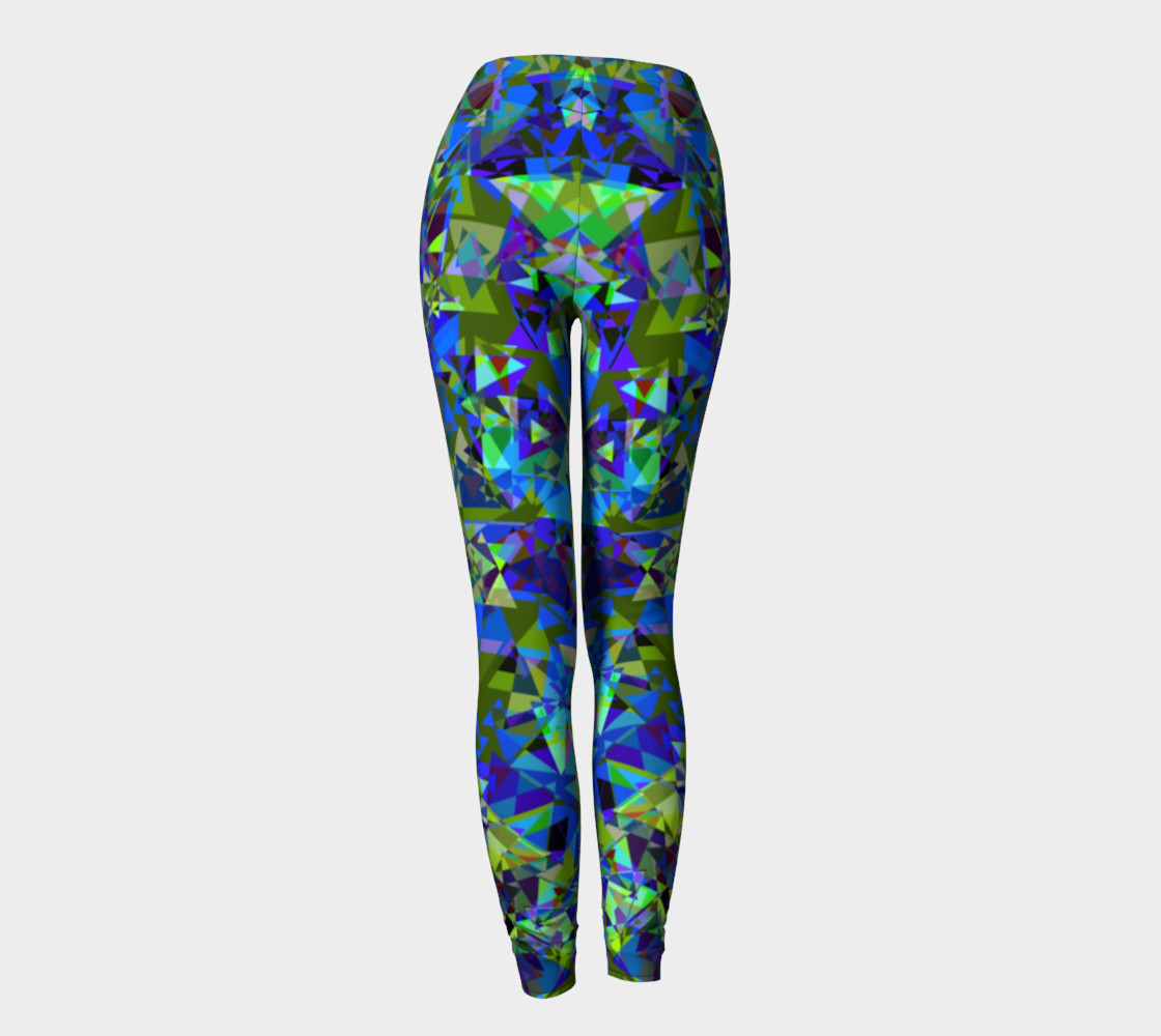 Psychedelic Crystal All Over Print leggings  preview #4