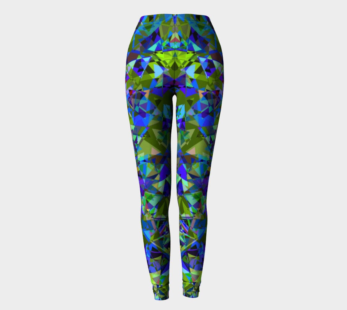 Psychedelic Crystal All Over Print leggings  preview #2