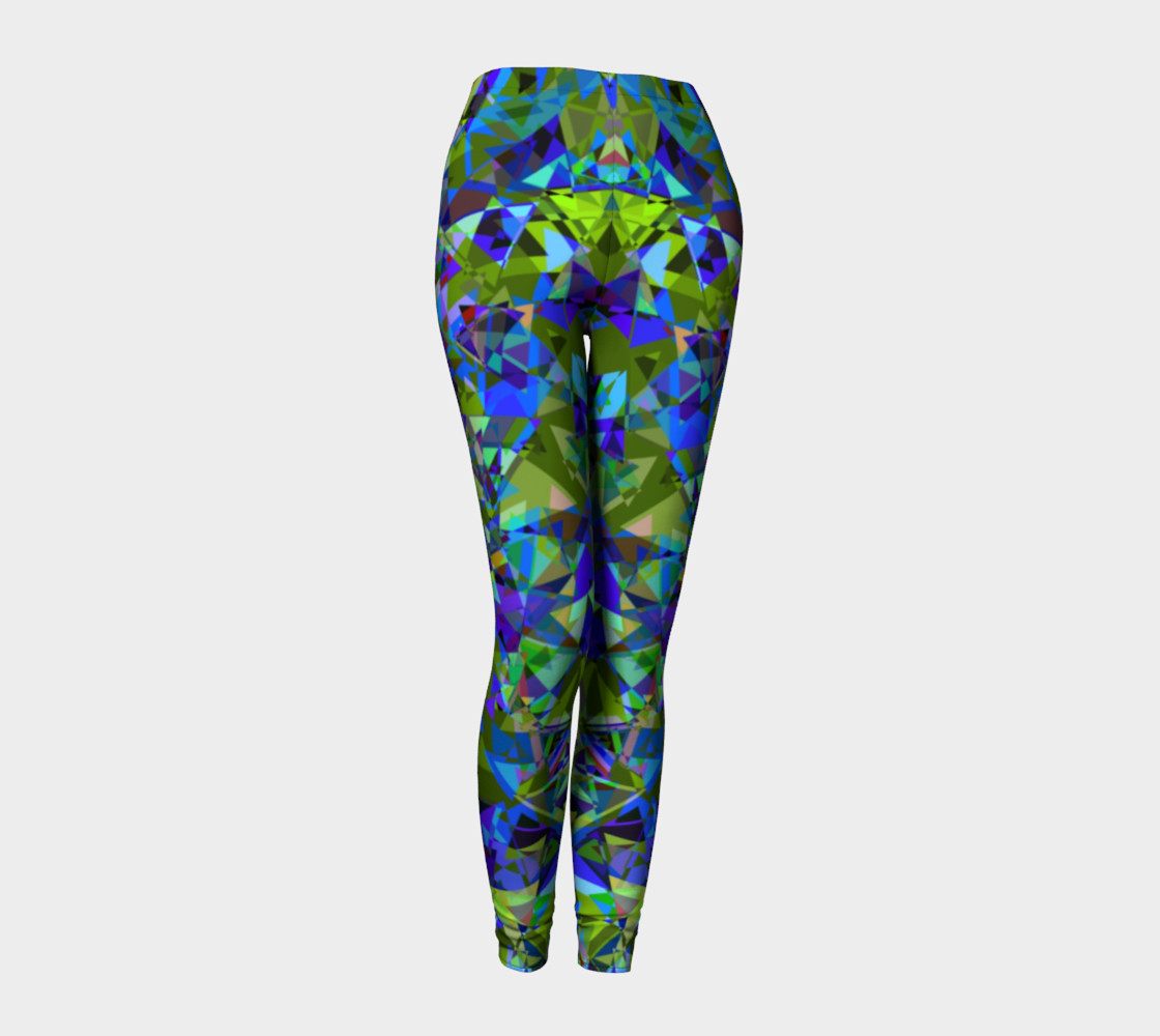 Psychedelic Crystal All Over Print leggings  preview #1