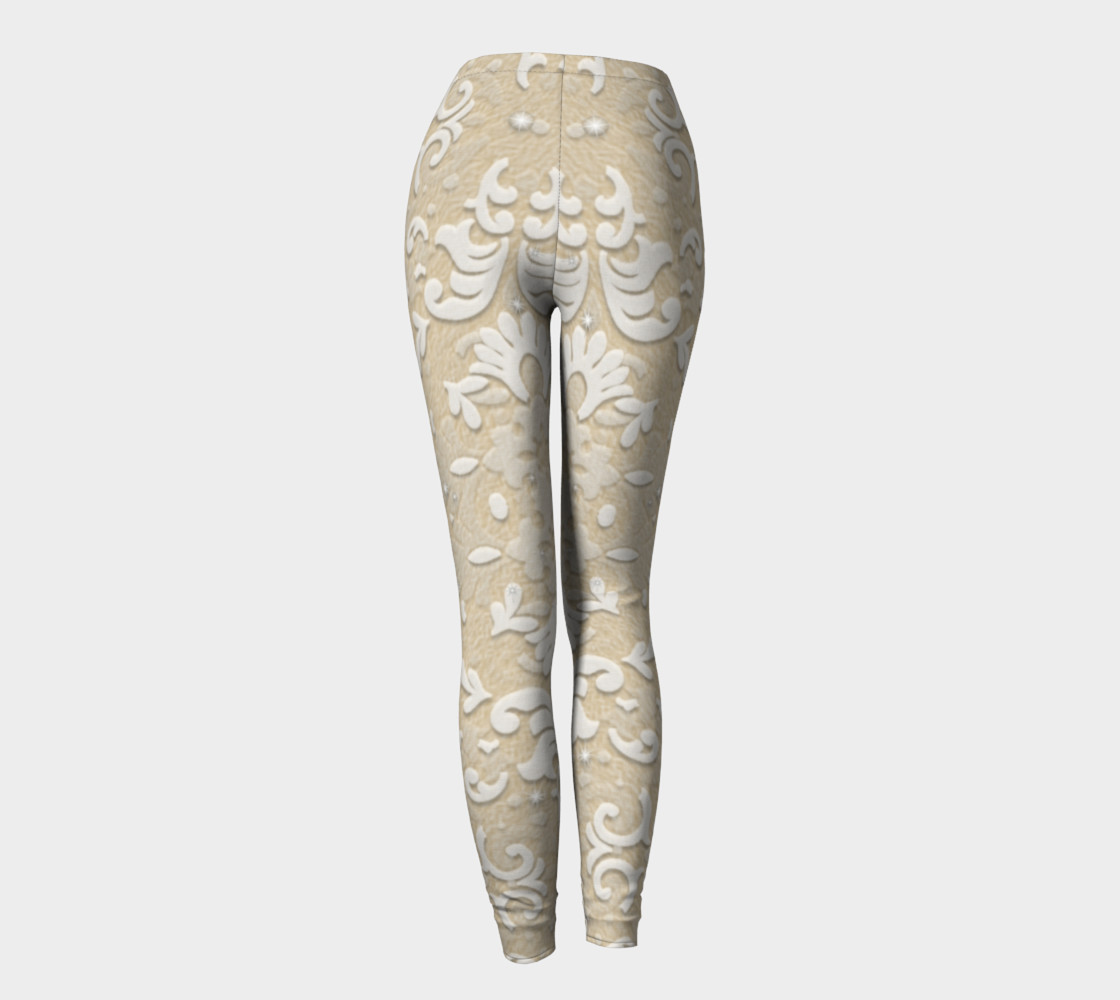 Aperçu de Nude Glitter Lace Leggings by Tabz Jones #4