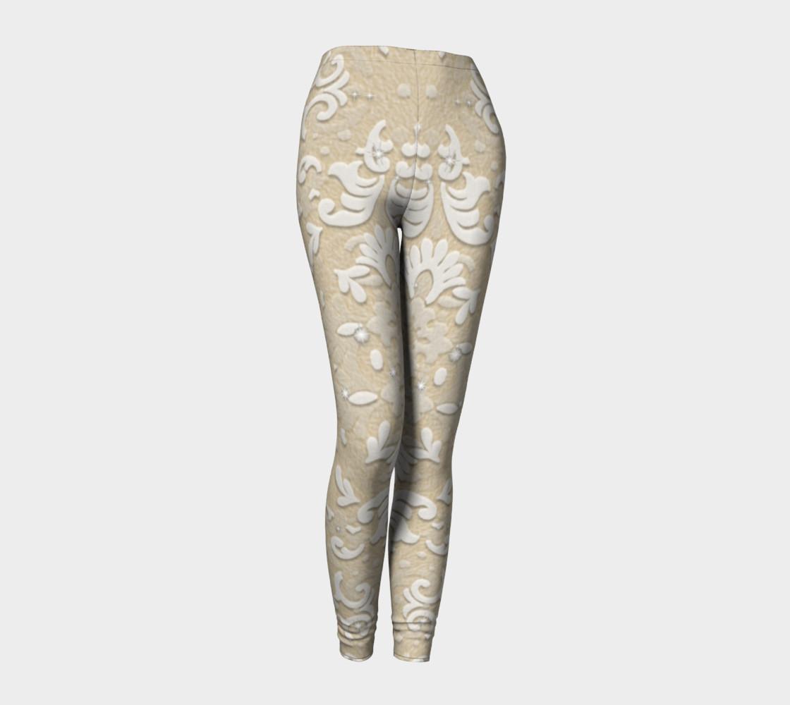 Aperçu de Nude Glitter Lace Leggings by Tabz Jones #1