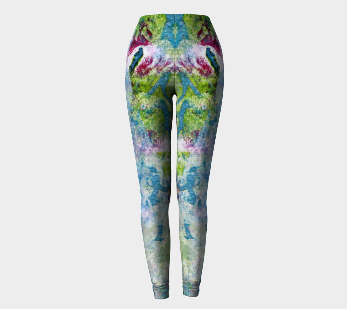 Multicolored Blue and Green Leggings preview #2