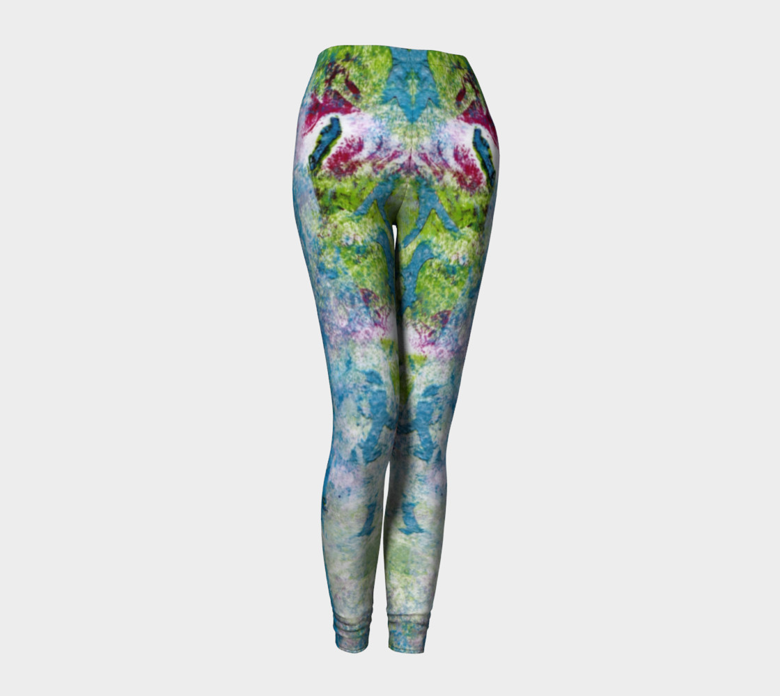 Multicolored Blue and Green Leggings preview #1