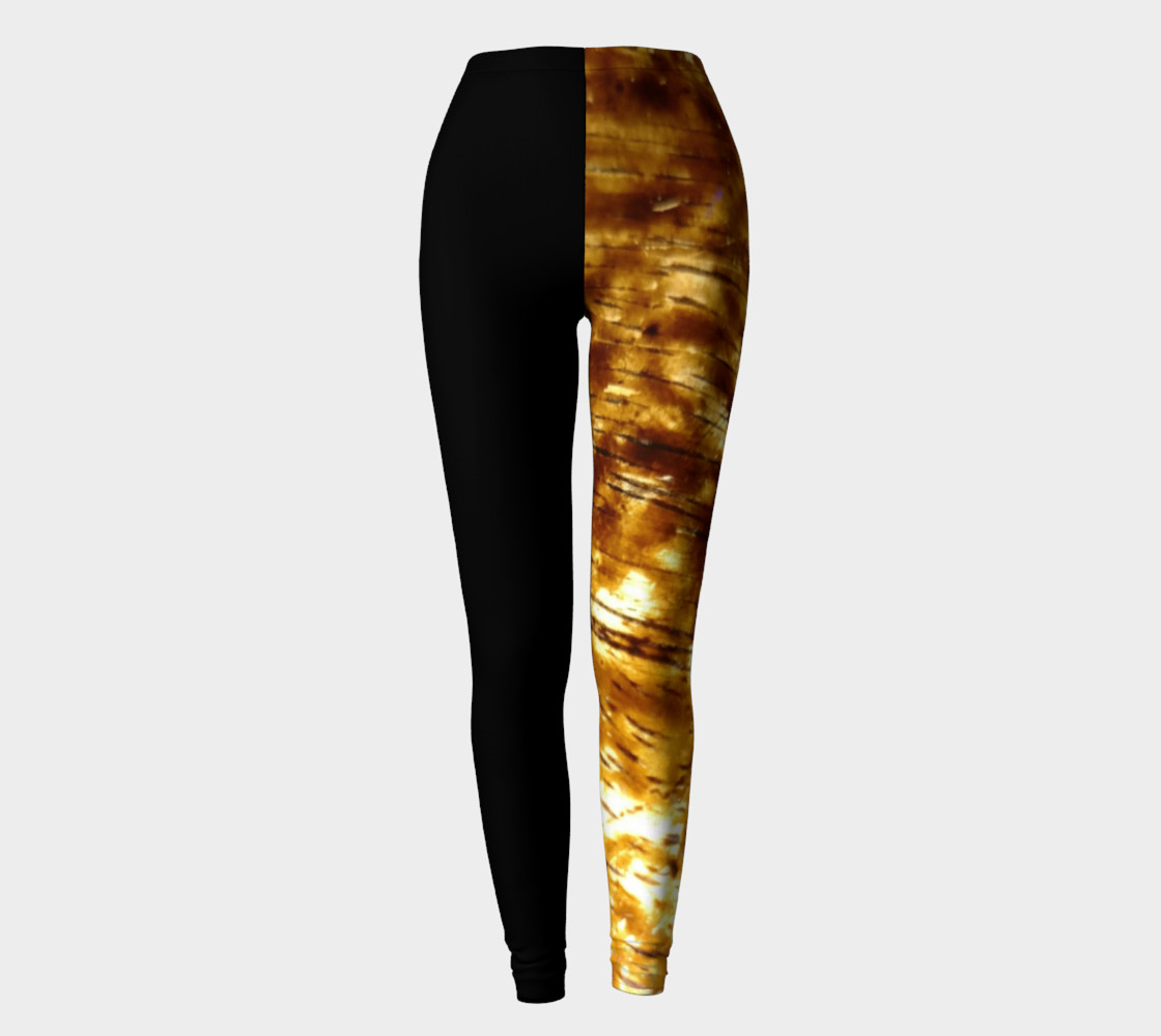 Aperçu de Black and Gold Leggings #2