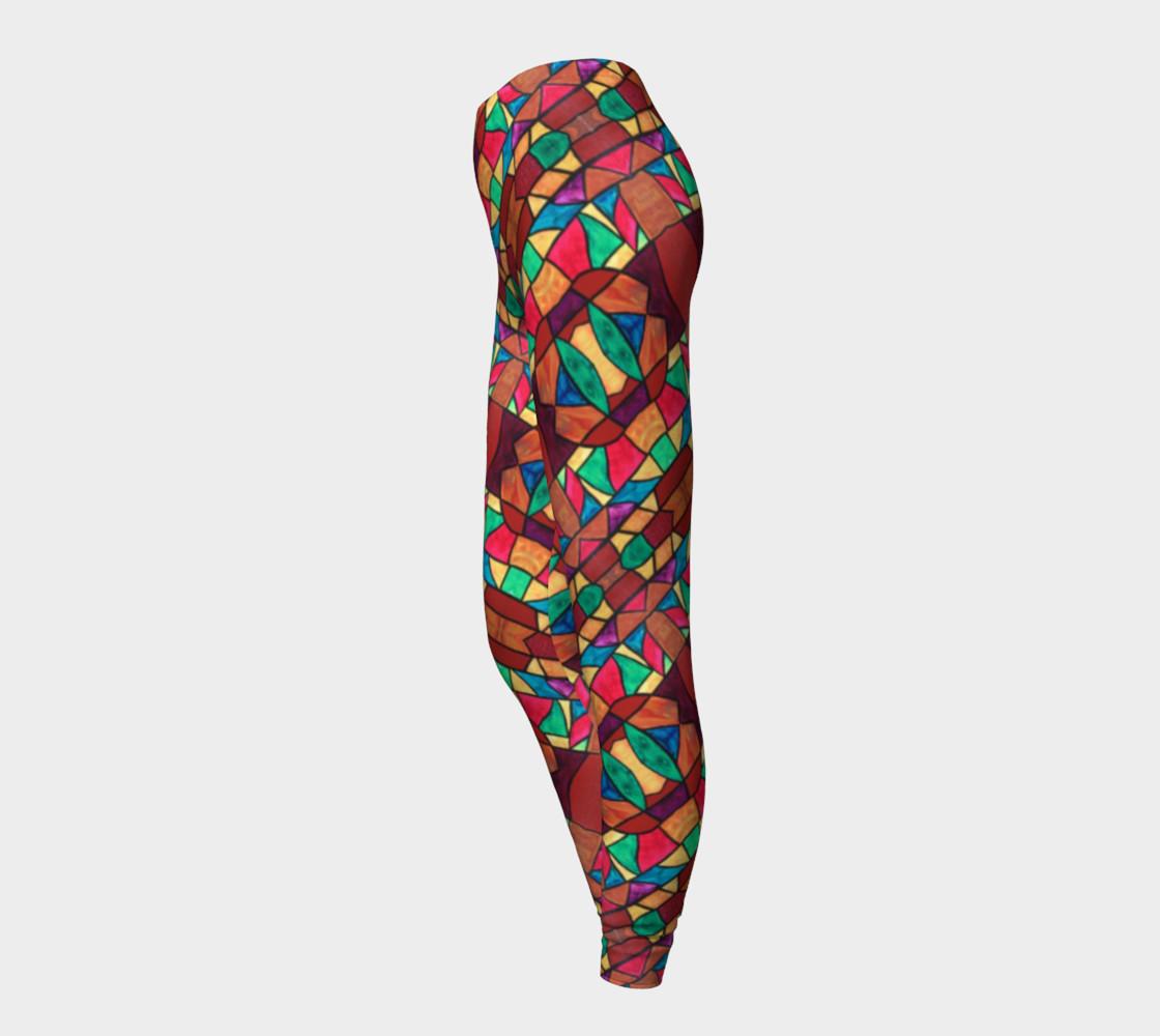 Aperçu de Penobscot Stained Glass Leggings #3