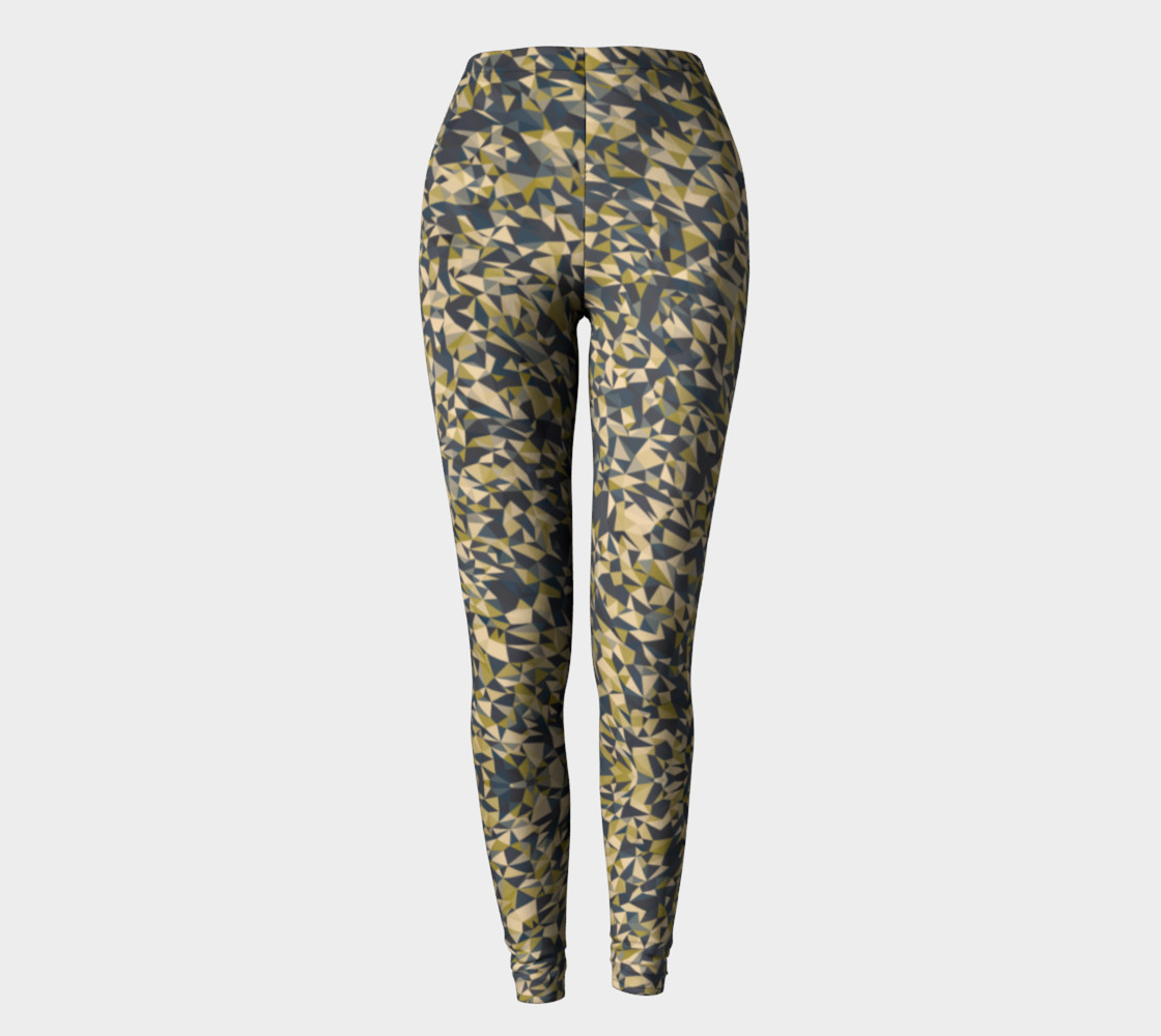 Aperçu de Geometric Dark Borwn Camouflage Leggings #2