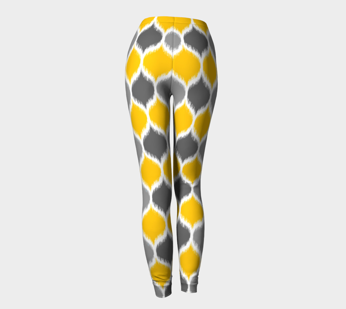 Yellow & Gray Ikat preview #4
