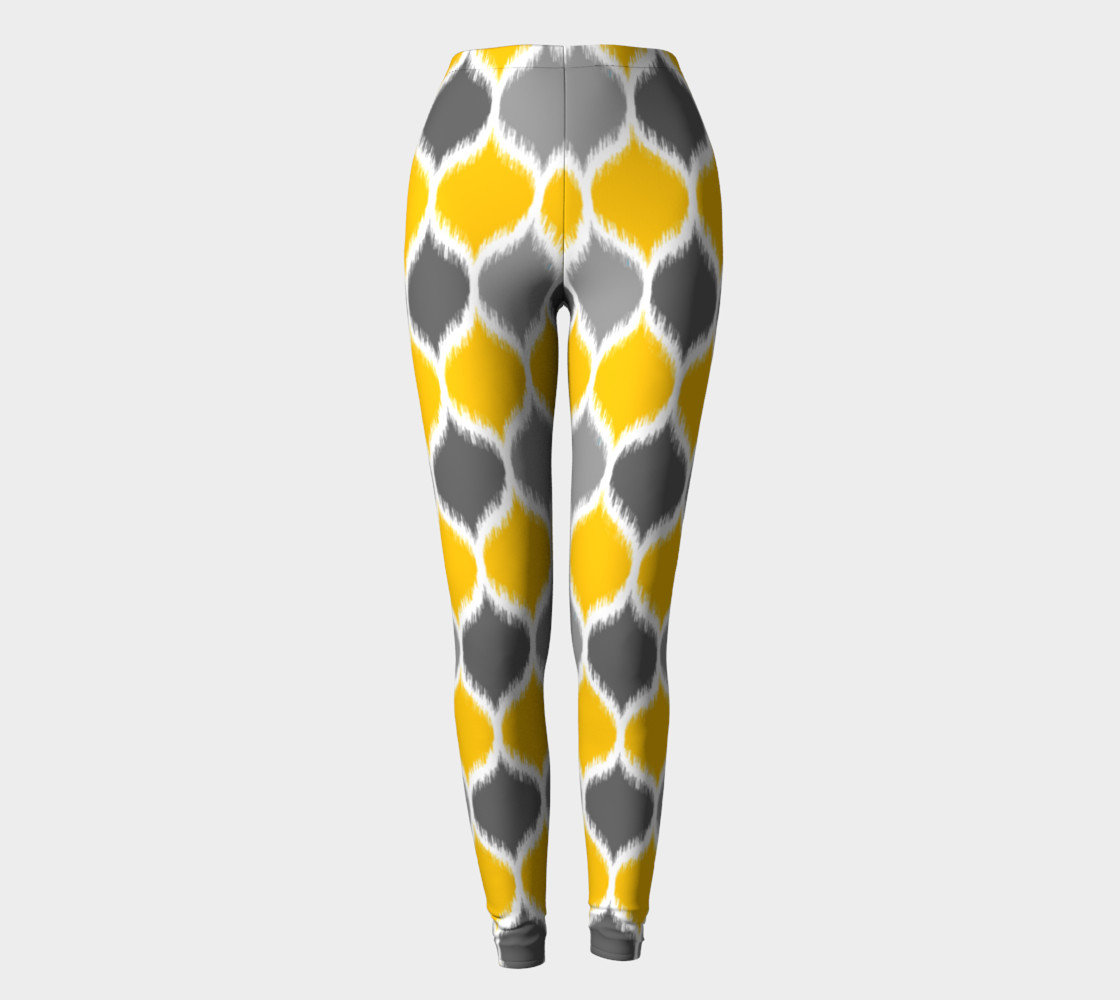 Yellow & Gray Ikat preview #2
