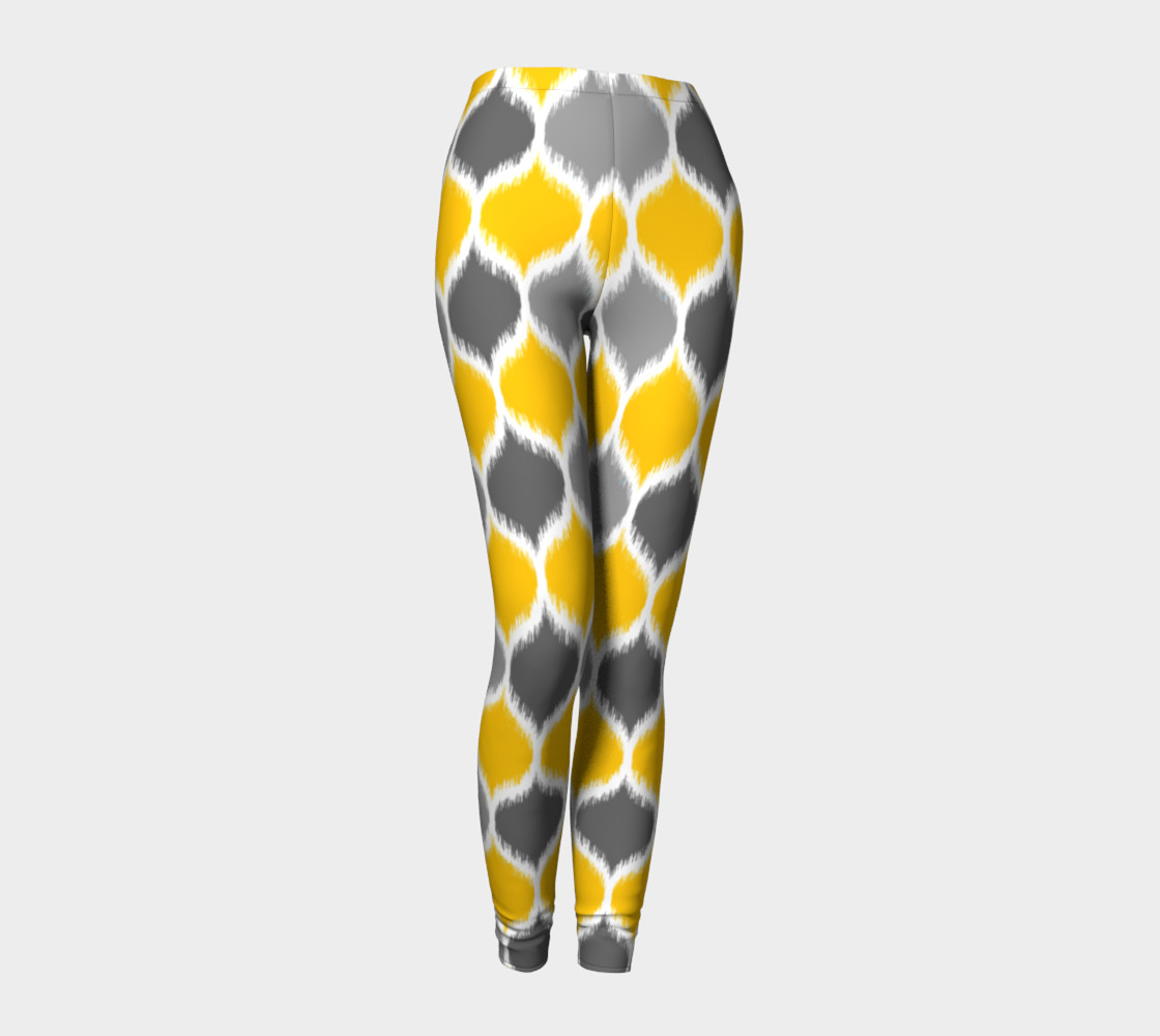 Yellow & Gray Ikat preview #1