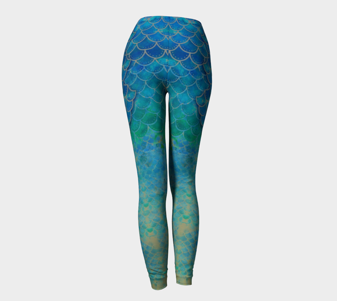 Handpainted Mermaid Leggings 4 preview #4