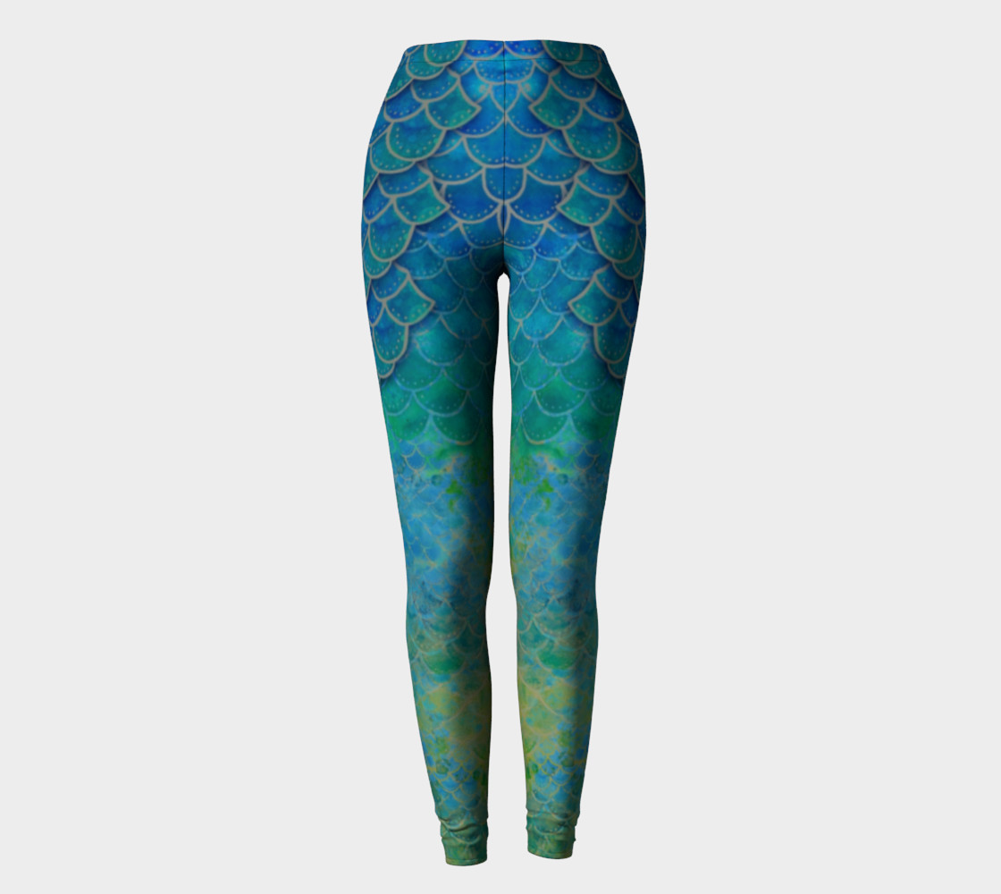 Handpainted Mermaid Leggings 4 preview #2