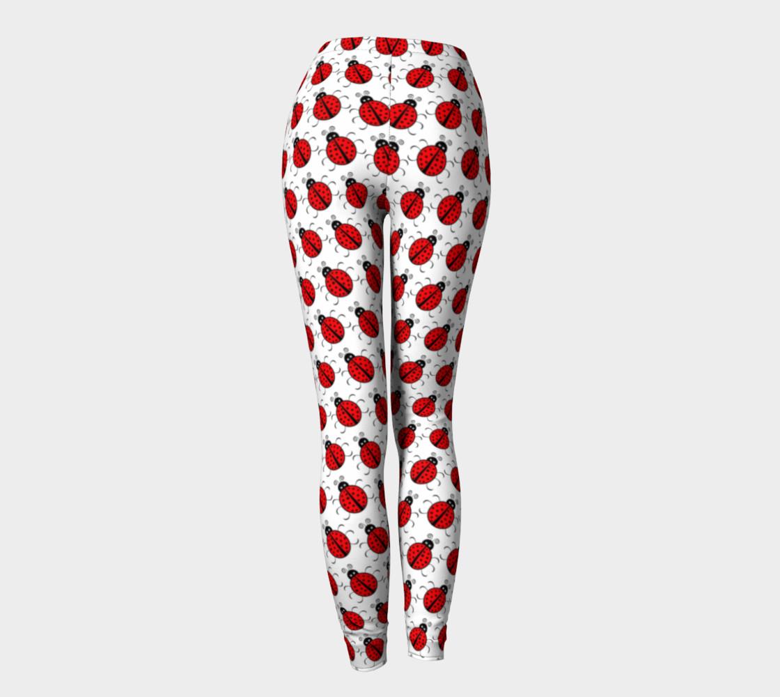 Aperçu de Ladybugs Pattern-White Leggings #4