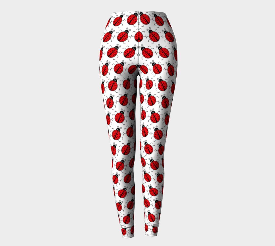Aperçu de Ladybugs Pattern-White Leggings #2