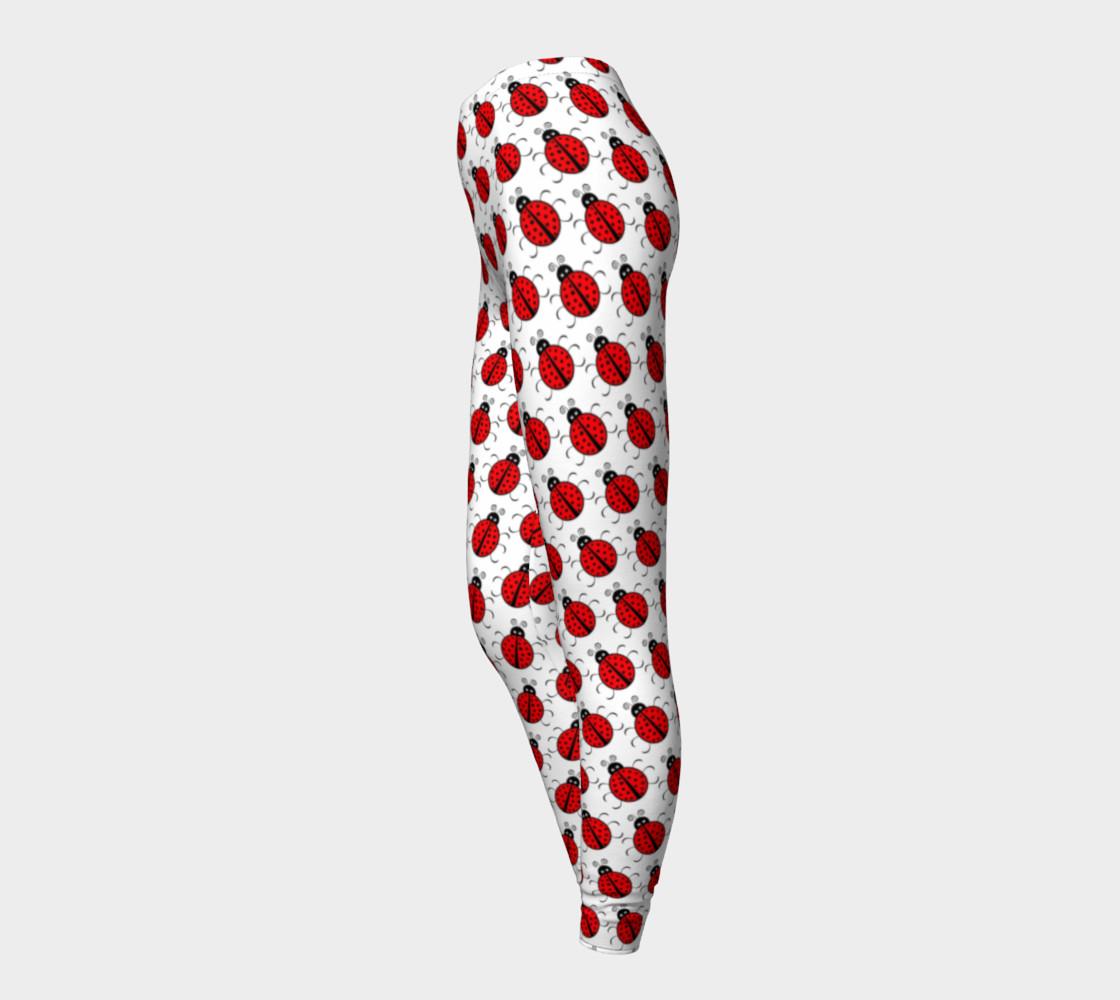 Aperçu de Ladybugs Pattern-White Leggings #3