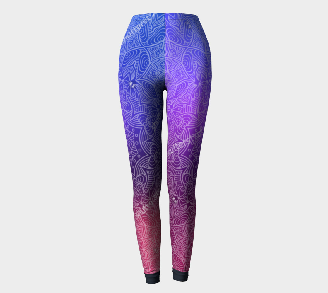 Purple Mandala Leggings preview #2