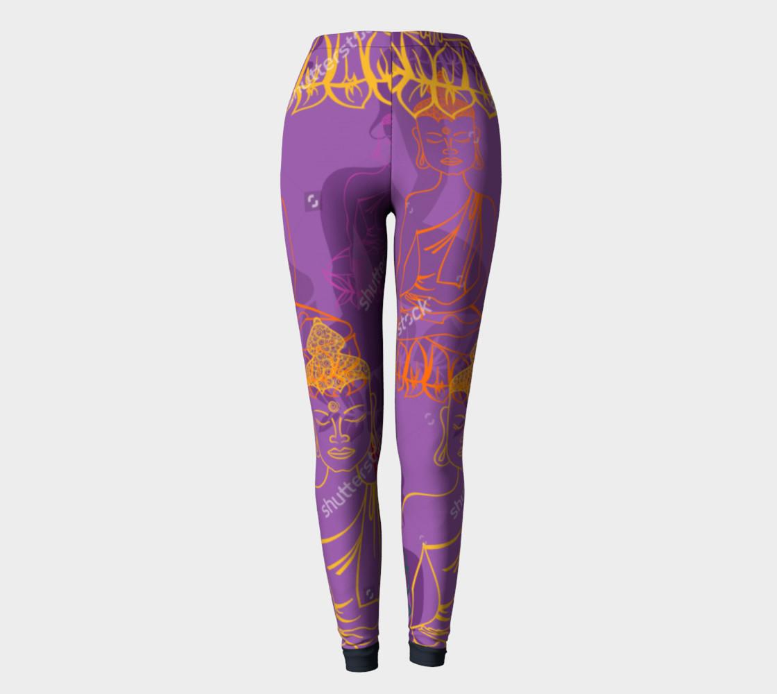 Purple Buddha Leggings preview #2