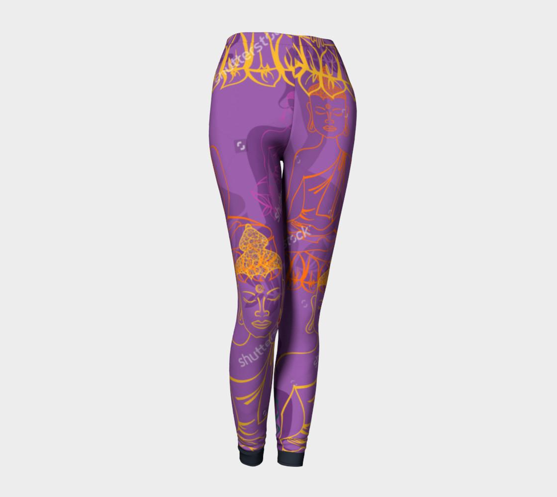 Purple Buddha Leggings preview #1