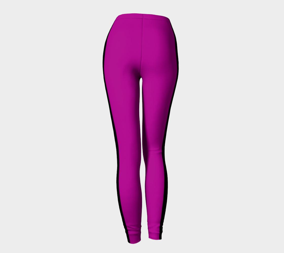 Purple with Black Side Stripe Leggings preview #4