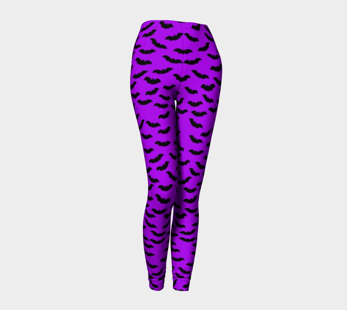 Bats in the Belfry-Purple Leggings preview #1