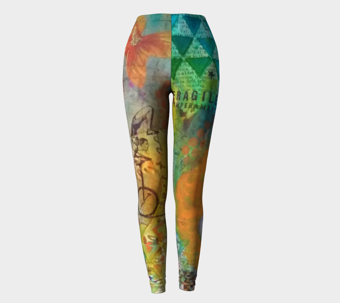 Life is a Circus! - Art Wear Leggings by Danita Lyn preview #2