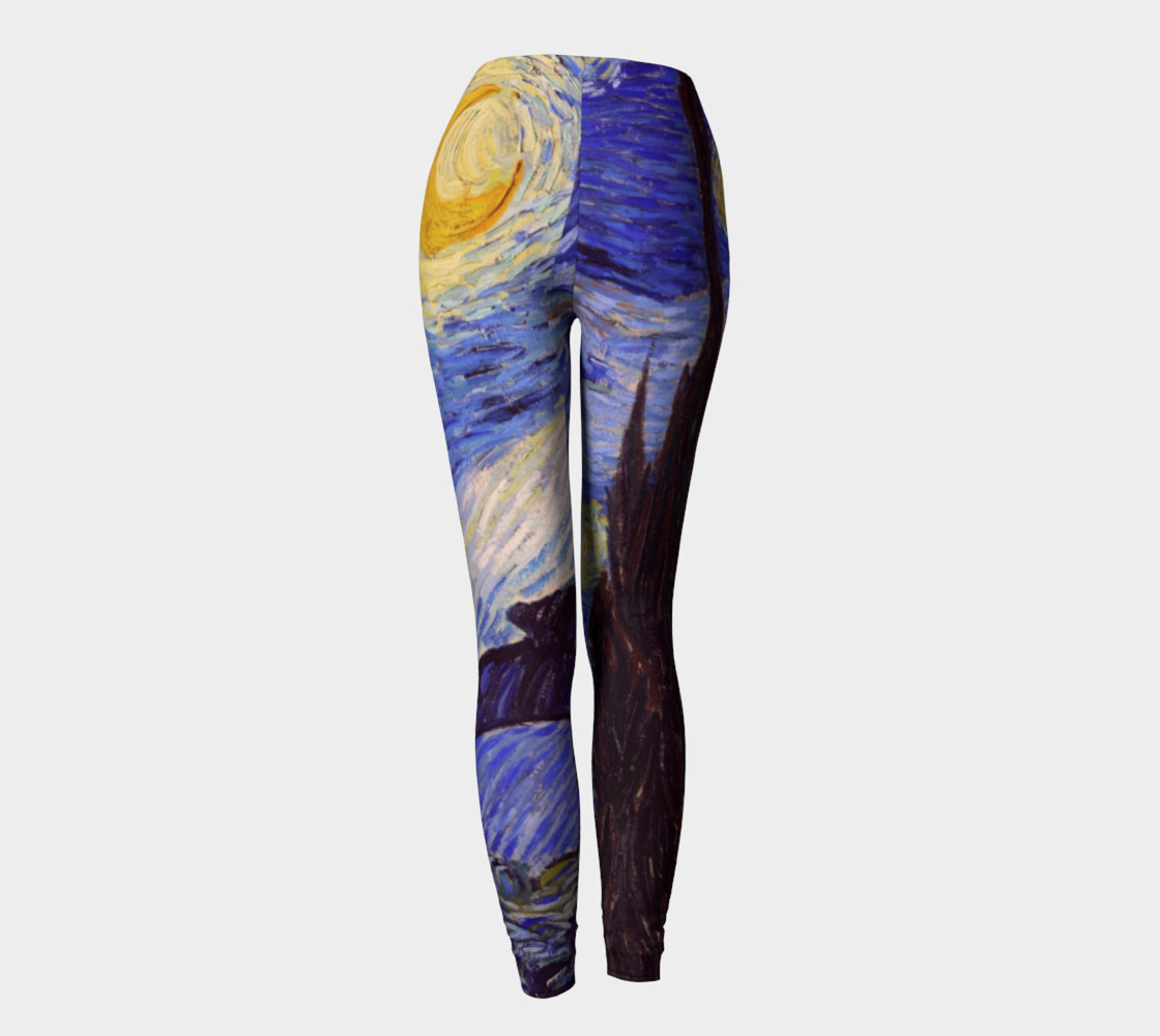 Vincent Van Gogh Starry Night Leggins preview #4