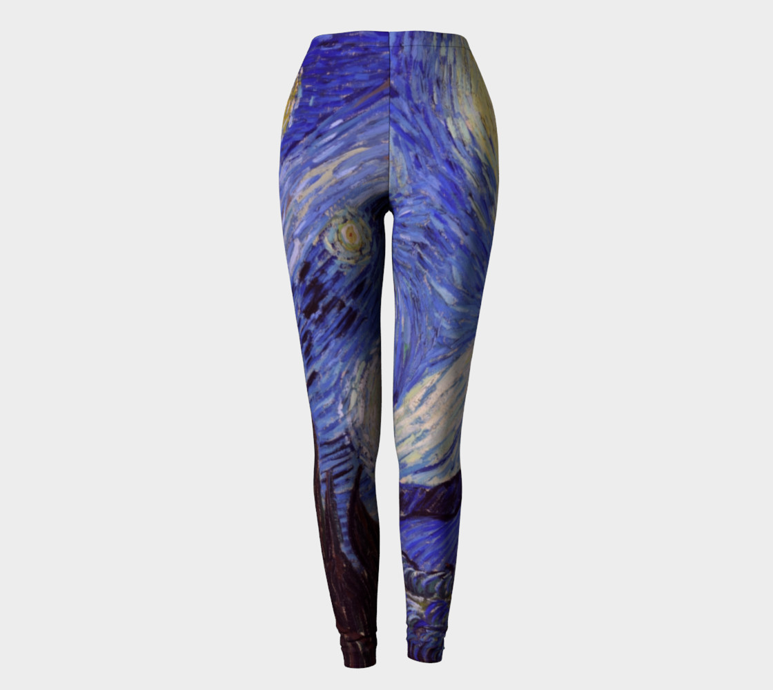 Vincent Van Gogh Starry Night Leggins preview #2