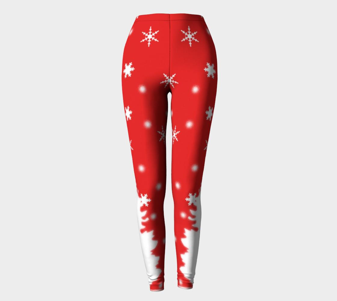 Merry Christmas Winter Snowflakes Leggings preview #2