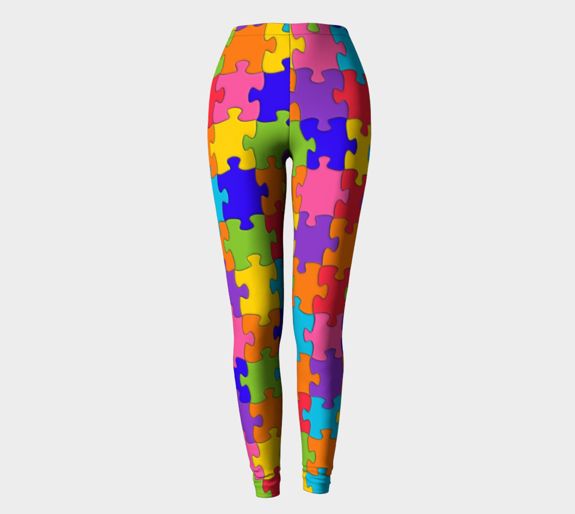 Funny Colorful Jigsaw Puzzle Pieces thumbnail #3