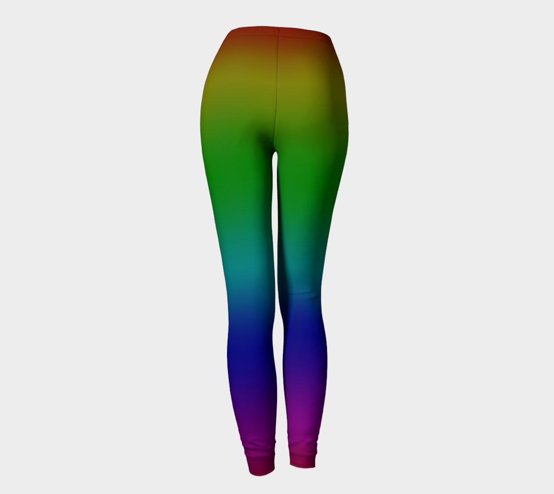 Dark Rainbow Ombre Leggings preview #4
