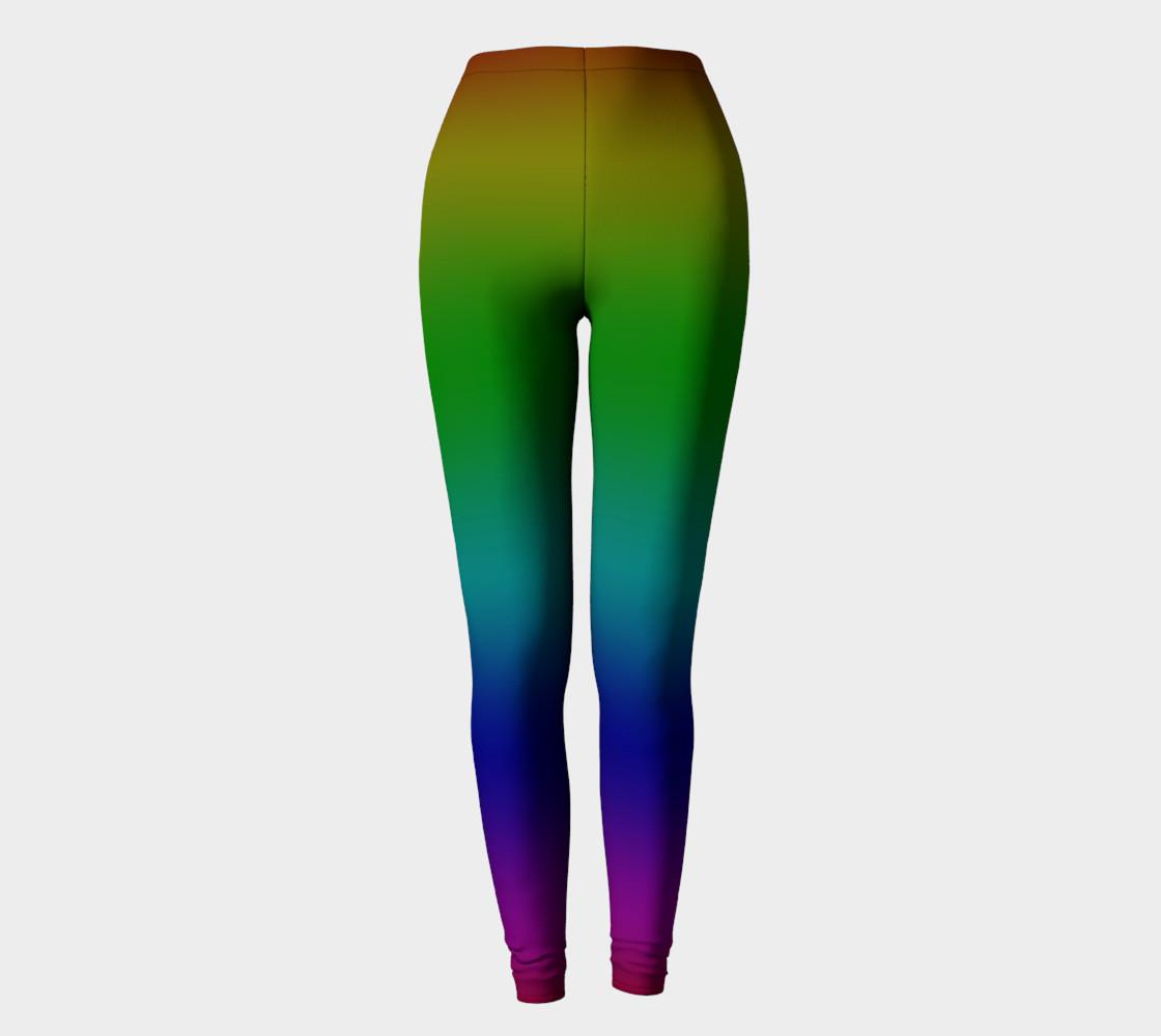 Dark Rainbow Ombre Leggings preview #2