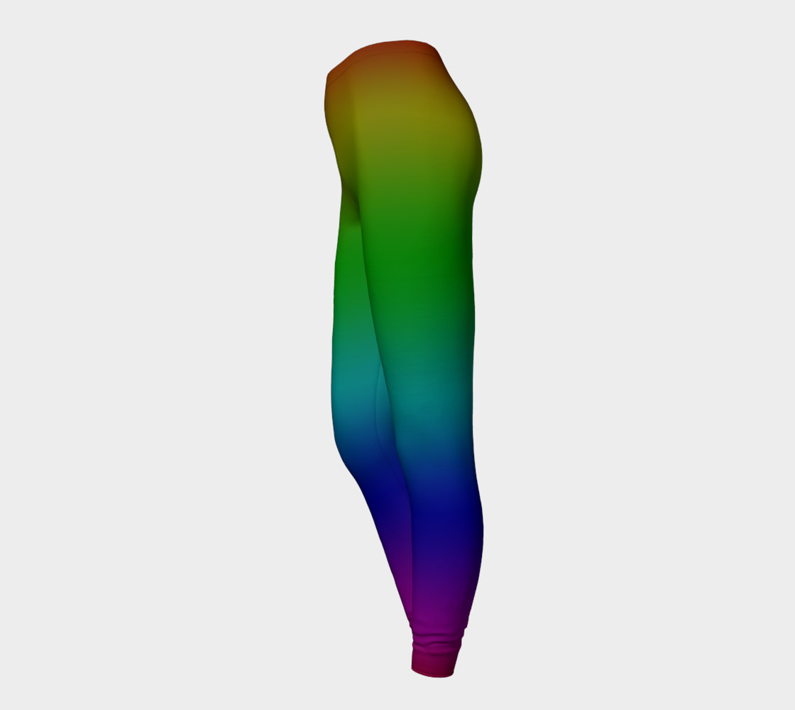 Dark Rainbow Ombre Leggings preview #3