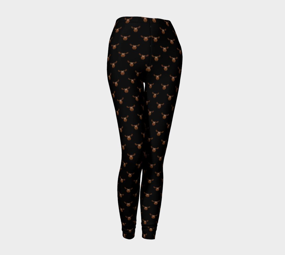 Moose Pattern-Dark Chocolate Leggings preview #1