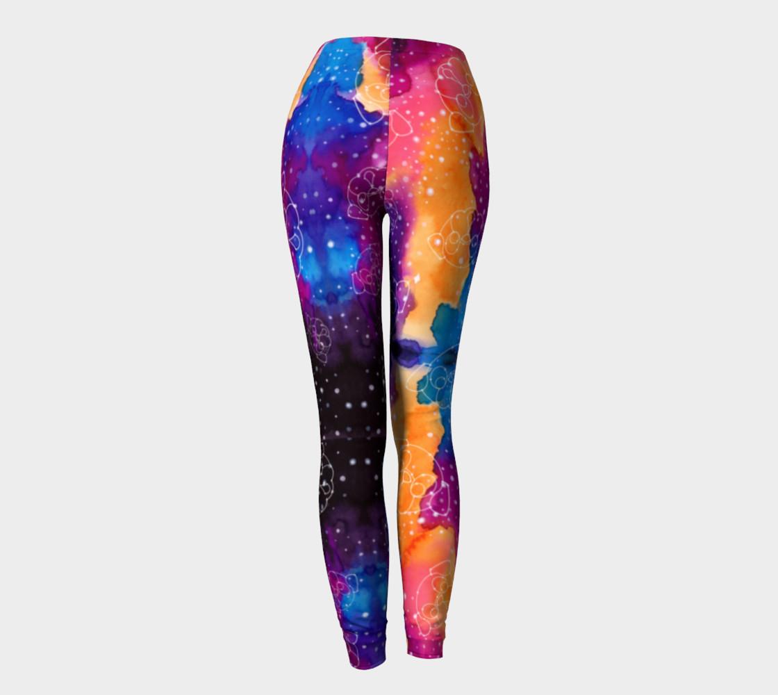 Pug Constellations Pink Purple Orange Leggings preview #4