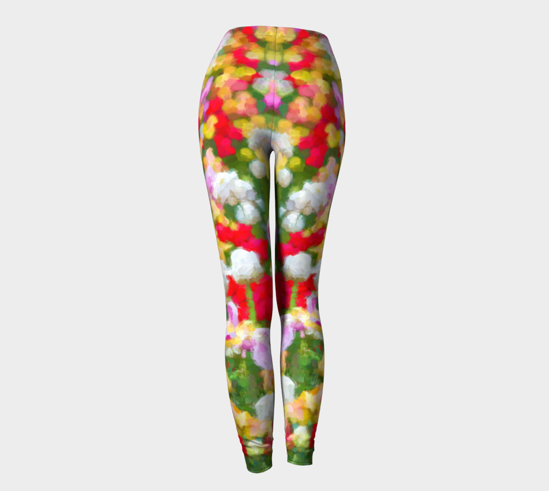 Painted Tulips Leggings preview #4